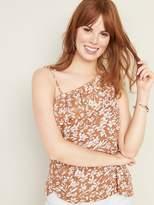 Ruffled Linen-Blend One-Shoulder Top for Women