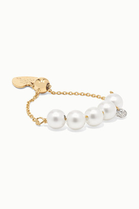 PERSÉE Perlee 18-karat Gold, Pearl And Diamond Ring - White