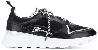 Blumarine Lace-Up Logo Sneakers