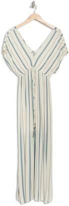 Love Stitch Stripe V-Neck Maxi Dress
