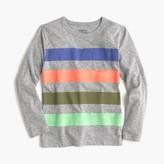 J.Crew Boys' long-sleeve striped pocket T-shirt