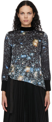 Sacai Black Star Print Blouse