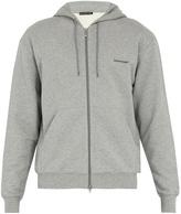Balenciaga Logo-print zip-through cotton sweatshirt