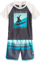 Osh Kosh 2-Pc. Surf Dept. Rashguard and Swim Trunks Set, Toddler and Little Boys (2T-7)