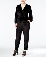 Melissa McCarthy Trendy Plus Size Velvet Jumpsuit