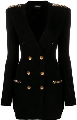 Elisabetta Franchi Double-Breasted Knit Dress