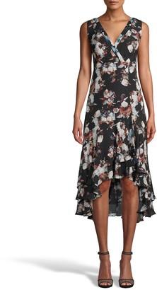 Nicole Miller Baroque Silk Sleeveless Dress