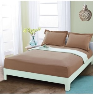 Elegant Comfort Silky Soft Single Fitted Sheet Full Taupe Bedding
