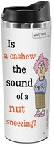 Tree-Free Greetings TT01866 Aunty Acid 18-8 Double Wall Stainless Artful Tumbler, 14-Ounce, Cashew