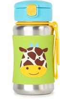 Skip Hop Zoo Insulated Stainless Steel Straw Bottle, 12 oz, Jules