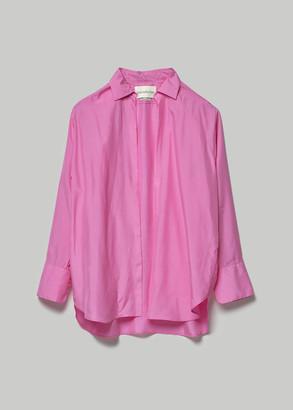 Ludovic de Saint Sernin Men's Long Sleeve Go To Shirt in Hot Pink Size Medium