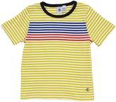 Petit Bateau 'Fourrure' Striped Tee (Kids) - Yellow/White-12 Years