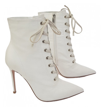 Gianvito Rossi White Cloth Ankle boots