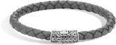 John Hardy Classic Chain 5.5MM Station Bracelet in Silver and Leather
