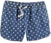 Carter's Star-Print Cotton Denim Shorts, Toddler Girls (2T-4T)