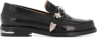 Toga Pulla Stud Embellished Mid-Heel Loafers