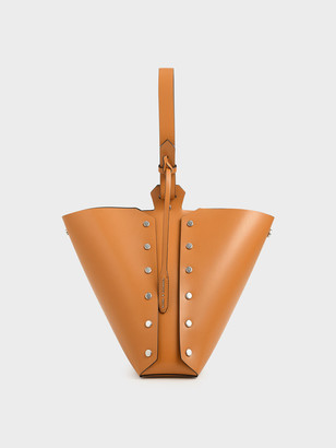 Charles & Keith Reversible Studded Trapeze Shoulder Bag