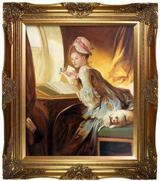 The Love Letter, 1770 - Framed Oil Reproduction of an Original Painting by Jean-Honore Fragonard