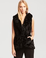 New York Anissa Black Faux Fur Vest