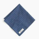 J.Crew The Hill-side® selvedge chambray pocket square in double stripe