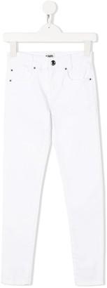 Karl Lagerfeld Paris mid rise skinny jeans