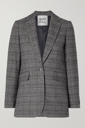 Alex Mill Ryder Prince Of Wales Checked Woven Blazer - Black