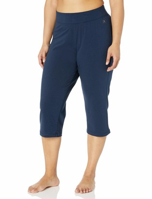 Danskin Women's Plus Size Sleek Fit Yoga Crop Pant