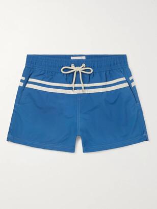 Atalaye Roya Short-Length Striped Swim Shorts