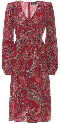 Etro Silk crepe de chine midi dress