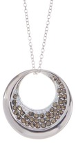 Argentovivo Sterling Silver Round Cutout Pendant Necklace