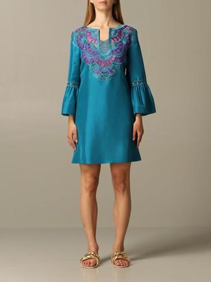 Alberta Ferretti Dress Dress With Embroidered Inserts