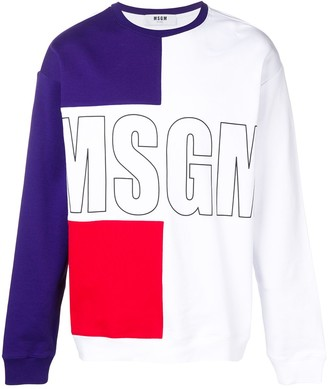 MSGM Colour Block Sweatshirt