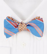 Brooks Brothers Reversible Stripe/Panama Hat Silk Bow Tie