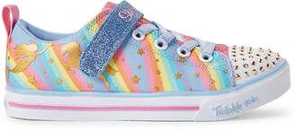 Skechers Twinkle Toes By Toddler Girls) Rainbow Sparkle Lite Light-Up Sneakers