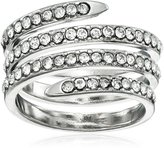 """BCBGeneration Coil"""" Pave Rhodium Ring, Size 7"""