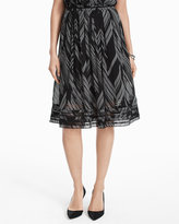 White House Black Market Soft Pleated Midi Skirt
