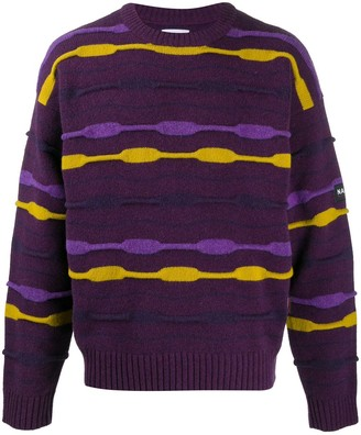 Martine Rose Striped Crew Neck Jumper