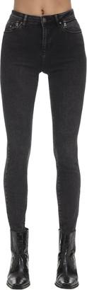 Karl Lagerfeld Paris Logo Skinny Cotton Denim Jeans