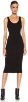 Enza Costa Rib Tank Viscose-Blend Dress in Black.
