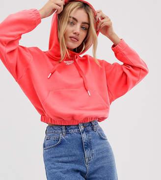 Reebok cropped neon rose hoodie exclusive to ASOS-Pink