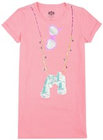 Juicy Couture Girls Knit Explorer Graphic Dress