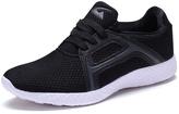 Black Mesh Lace-Up Sneaker
