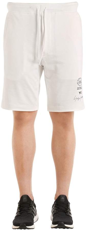 Y-3 Slim Graphic French Terry Sweat Shorts