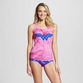 Warner Brothers Women's Warner Bros. Wonder Woman Tank and Hipster Set - Pink/Purple
