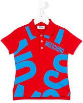 Moschino Kids - logo print polo shirt - kids - Cotton/Spandex/Elastane - 4 yrs