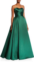 Jovani Strapless Sweetheart Taffeta Ball Gown