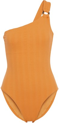 Onia Jenna One-shoulder Textured Swimsuit
