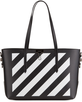 Off-White Diagonal Stripe Shopper Tote Bag