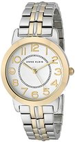 Anne Klein Women's AK/1791SVTT Easy-to-Read Two-Tone Bracelet Watch