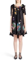 Fendi Women's Embellished Satin Trapeze Dress
